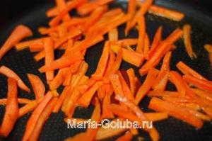 Лапша Якисоба_7жарка морковки