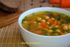 Греческий суп с нутом