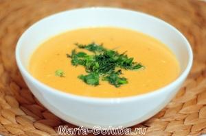 тыквенный сырный суп готов 3