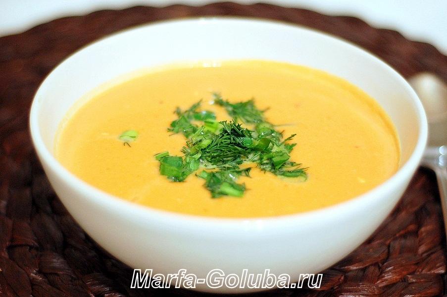 тыквенный сырный суп готов 8