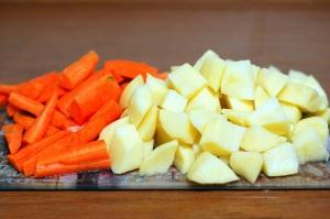 Судак на пару_2нарезать овощи