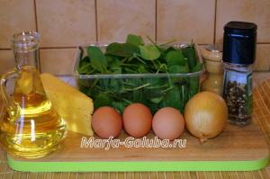 Яичница со шпинатом 2
