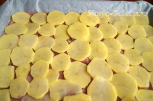 Индейка с картошкой и грибами в духовке3