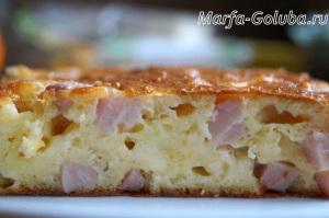Пирог с ветчиной и сыром 16